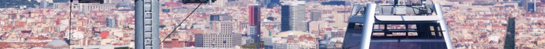 Teleferic de Montjuic in Barcelona. Spain